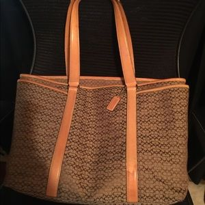 Coach laptop brief satchel & laptop case